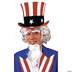 Uncle Sam Wig with Goatee & Eyebrows