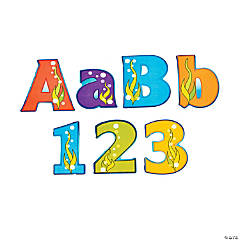 Under The Sea Bulletin Board  Letters & Numbers