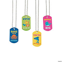 Under the Sea Dog Tag Necklaces