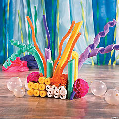 Under the Sea Pool Noodle Coral Reef Décor Idea