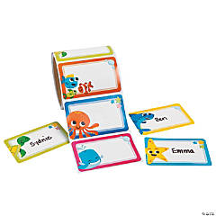 Under the Sea Self-Adhesive Name Tags/Labels