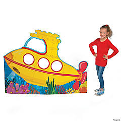 Under the Sea Submarine Photo Cardboard Stand-Up