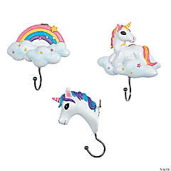 Unicorn & Rainbow Wall Hooks