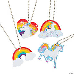 Unicorn Dog Tag Necklaces