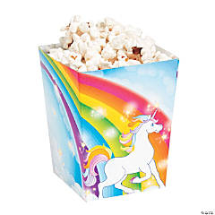 Unicorn Popcorn Boxes