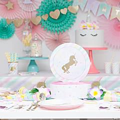 Baby Boy Stork Party Supplies · Unicorn Sparkle Party Supplies