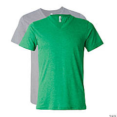 Unisex Tri-Blend Short Sleeve V-Neck T-Shirt by Bella + Canvas