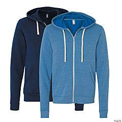 Unisex Tri-Blend Sponge Full-Zip Hooded Sweatshirt by Bella + Canvas