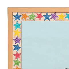 Upcycle Stars Magnetic Bulletin Board Borders