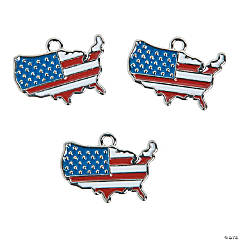 USA Country Enamel Charms