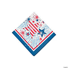 USA Fireworks Beverage Napkins