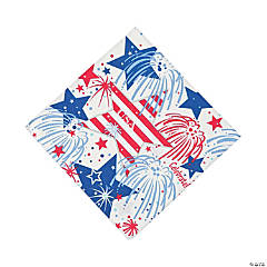 USA Fireworks Luncheon Napkins