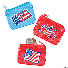USA Flag Coin Purses
