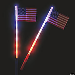 USA Light-Up Flags