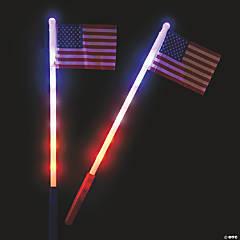 USA Light-Up Flags