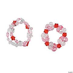 Valentine Acrylic Bead Bracelets Idea