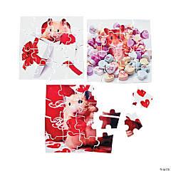 Valentine Animal Mini Puzzles