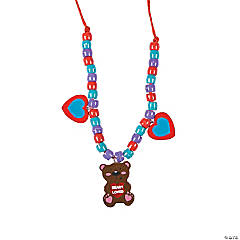 Valentine Bear Beaded Necklace Craft Kit
