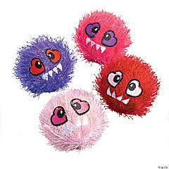 Valentine Character Plush Bouncy Ball Assortment