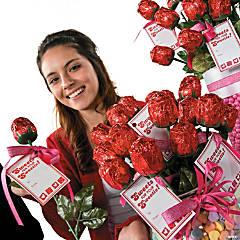 Valentine Chocolate Rose Tags Idea