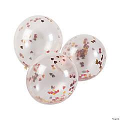 Valentine Confetti Latex Balloons