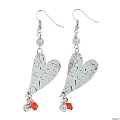 Valentine Dangle Heart Earrings Craft Kit