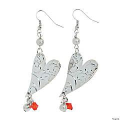 Valentine Dangle Heart Earrings Craft Kit