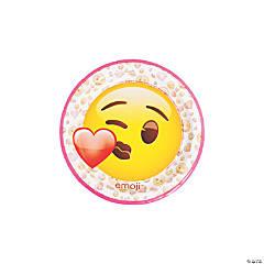 Valentine Emoji Dessert Paper Plates