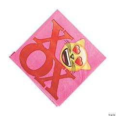 Valentine Emoji Luncheon Paper Napkins