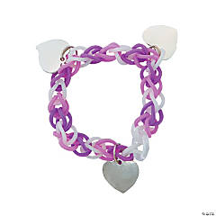 Valentine Fun Loop Bracelets with Charms