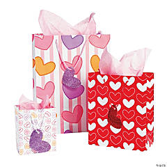 Valentine Gift Bags with Tags Assortment