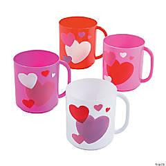 Valentine Heart Plastic Mugs