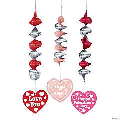 Valentine Hearts Hanging Spirals