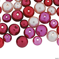Valentine Love Pearl Bead Assortment - 5mm-8mm