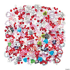 Valentine Mega Glass Bead & Charm Assortment