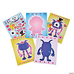 Valentine Monster Sticker Scenes