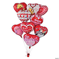 Valentine Mylar Balloons Assortment