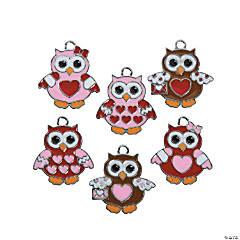 Valentine Owl Charms