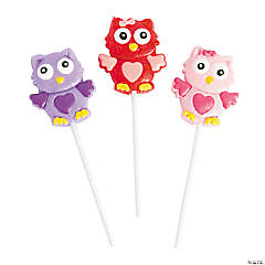 Valentine Owl Frosted Suckers