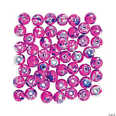 Valentine Paint Splatter Beads - 8mm