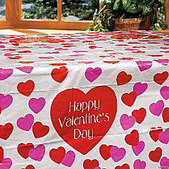 Good Valentine Plastic Tablecloth