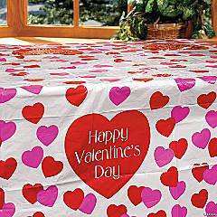 Valentine Plastic Tablecloth