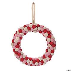 Valentine Pom-Pom Wreath