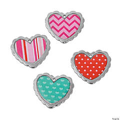 Valentine Print Heart Charms