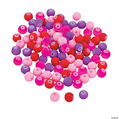 Valentine Rubber-Coated Beads - 6mm
