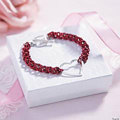 Valentine's Chain Mail Bracelet Idea