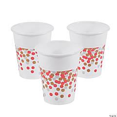 Valentineu0027s Day Confetti Print Plastic Cups