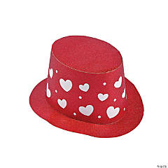 Valentineu0027s Day Glitter Top Hats