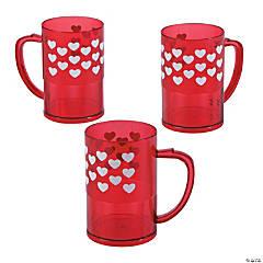 Valentine's Day Plastic Mugs