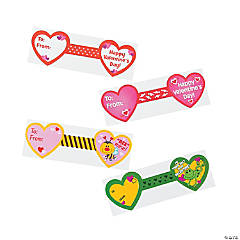 Valentine Self- Adhesive Favor Tags